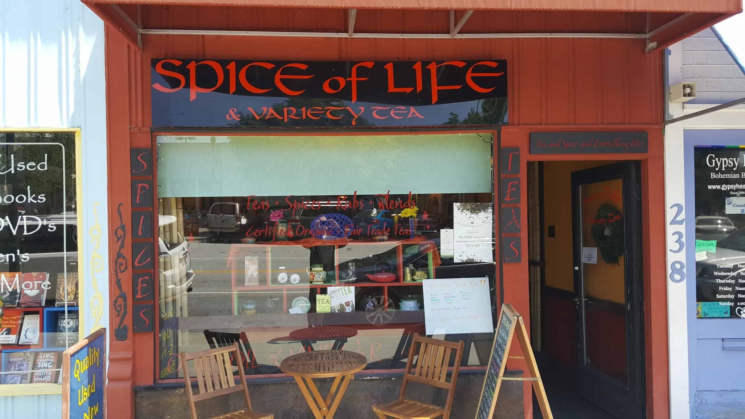 The Outside Of Spice Of Life And Variety Tea