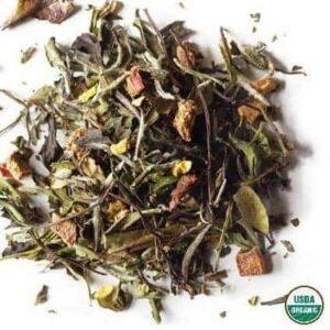 Loose Leaf Organic White Tea Called Peach Blossom