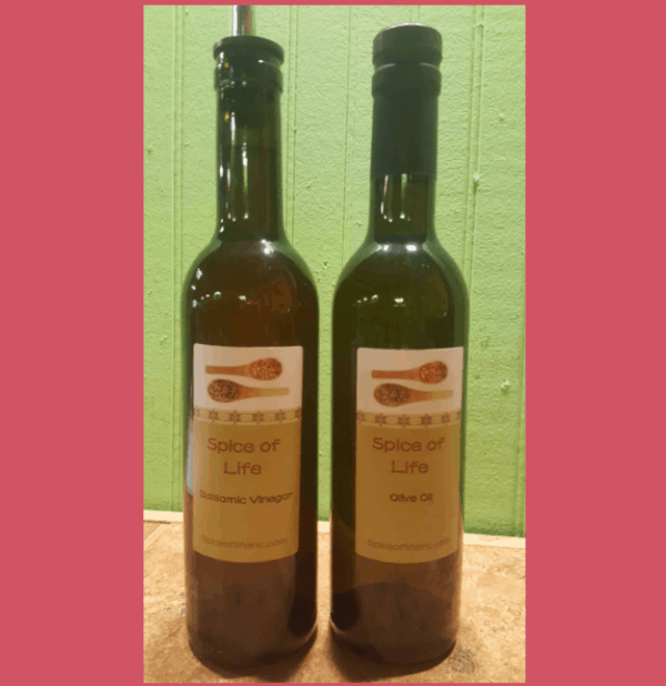 Bottles Of Oils & Bottles Of Balsamic Vinegars