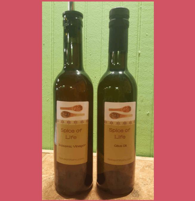 Bottles Of Oils & Bottles Of Balsamic Vinegars